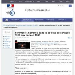 Histoire-géographie - Femmes et hommes dans la société des années 1950 aux années 1980