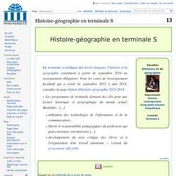 Histoire-géographie en terminale S