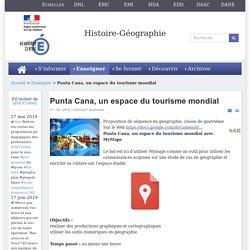 Histoire-géographie-EMC - Punta Cana, un espace du tourisme mondial