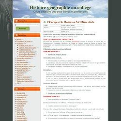 Histoire géographie au collège: L'Europe et le Monde au XVIIIème siècle