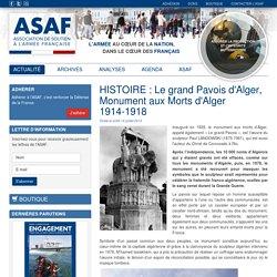 HISTOIRE : Le grand Pavois d'Alger, Monument aux Morts d'Alger 1914-1918