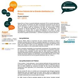 Brève histoire de la Grande distribution en France