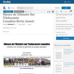 Silence de l'Histoire Sur l'Holocauste Canadien-Kevin Annett