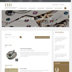 Histoire de l'horlogerie - Fondation de la Haute Horlogerie