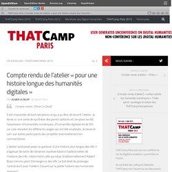 Compte rendu de l'atelier «pour une histoire longue des humanités digitales»