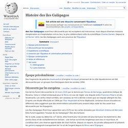 Histoire des îles Galápagos
