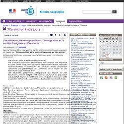 Une étude en histoire (première) : l'immigration et la société française au XXe siècle