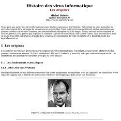Histoire des virus informatique Les origines