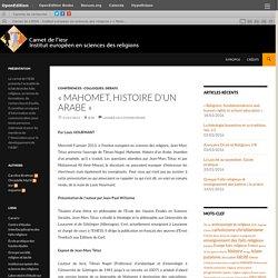 Carnet de L'IESR – Institut européen en sciences des religions