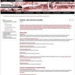 Histoire - sites internet conseillés
