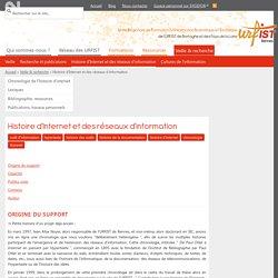 Histoire des outils et réseaux d'information