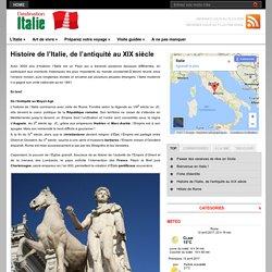Histoire de l'Italie, de l'antiquité au XIX siècle