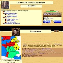 Jeanne d'Arc est br l e vive Rouen