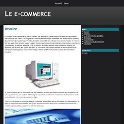 Histoire - Le e-commerce