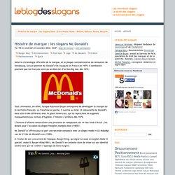 Histoire de marque : les slogans Mc Donald's - leblogdesslogans