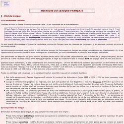 Histoire du lexique français