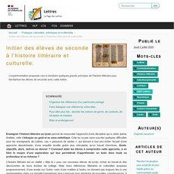 Initier à l'histoire littéraire et culturelle grâce à un mur collaboratif