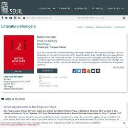 Notre histoire, François Dubois, Littérature étrangère - Seuil