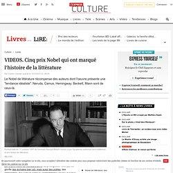VIDEOS. Cinq prix Nobel qui ont marqué l'histoire de la littérature