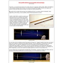 GAS : Une petite histoire de la lunette astronomique
