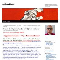l'Histoire des Magazines typoGabor N°13