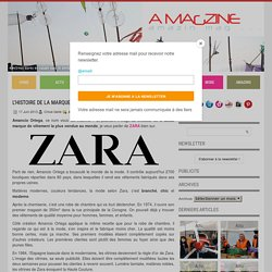 L'Histoire de la marque Zara