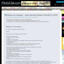 Histoire du meuble : style Second Empire De1852 à 1870 - Siège & meuble - Maison - Accueil