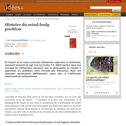 histoire du mind-body problem