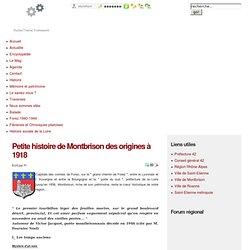 Petite histoire de Montbrison des origines à 1918