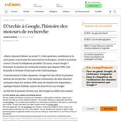 D'Archie à Google, l'histoire des moteurs de recherche