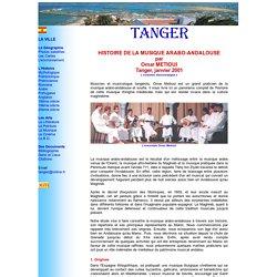 TANGER: Histoire de la Musique Arabo-andalouse.