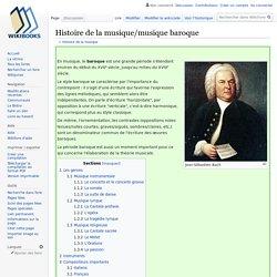 Histoire de la musique/musique baroque
