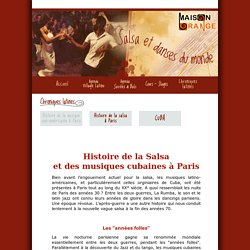 Maison Orange : Histoire de la salsa et des musiques cubaines à Paris