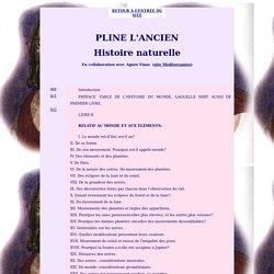 Pline l'Ancien : Histoire naturelle : oeuvre compète