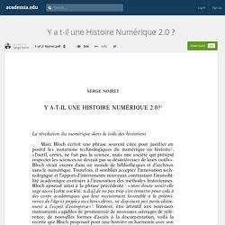 Y a t-il une Histoire Numérique 2.0 ?