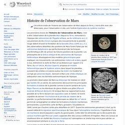 Histoire de l'observation de Mars