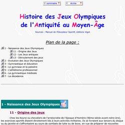 histoire des jeux olympiques antiques