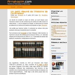 Un petit résumé de l'histoire de l'ordinateur – Arnakazim.com