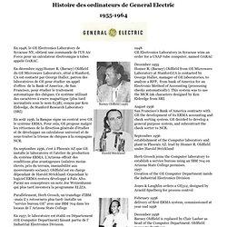 Histoire des ordinateurs de General Electric