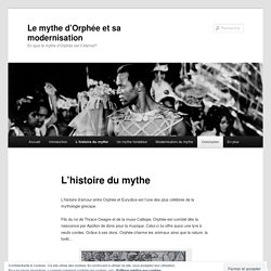 Le mythe d'Orphée et sa modernisation