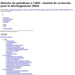Histoire du paludisme à l'IRD