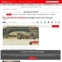 Plus de 90 ans d'histoire partagée avec les Français
