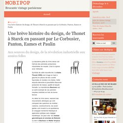Une brève histoire du design, de Thonet à Starck en passant par Le Corbusier, Panton, Eames et Paulin
