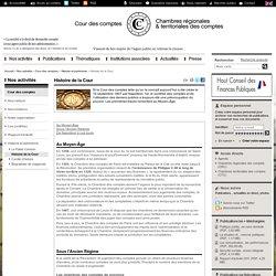 Histoire de la Cour des comptes