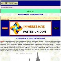 Redon : Histoire, Patrimoine, Noblesse (commune chef lieu de canton)