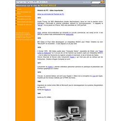 Histoire du PC : dates importantes