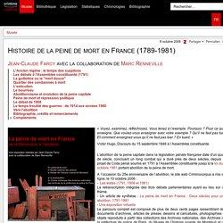 Histoire de la peine de mort en France (1789-1981)