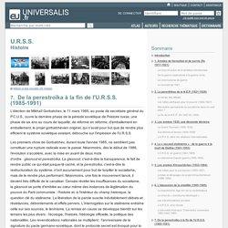 U.R.S.S. - Histoire, De la perestroïka à la fin de l'U.R.S.S. (1985-1991)