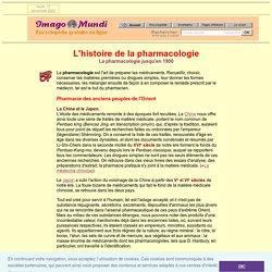 Histoire de la pharmacie.