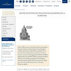 CHSPM - Centre d'histoire des systèmes de pensée moderne (EA 1451)
